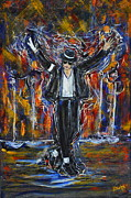 King Of Pop. Dancer Paintings - Starthing Something by Nayda Bonet