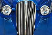 Blue Car Framed Prints - Startled Car Framed Print by Dan Holm