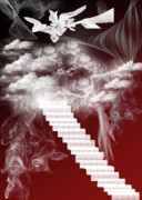 Heaven Digital Art Metal Prints - Starway To Heaven Metal Print by Angel Jesus De la Fuente