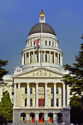 Us Capital Framed Prints - State Capitol Building Sacramento California Framed Print by Christine Till
