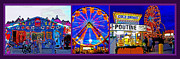 Fun Food Mixed Media Framed Prints - State Fair Triptych 2 Framed Print by Steve Ohlsen