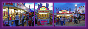 Park Scene Mixed Media Metal Prints - State Fair Triptych Metal Print by Steve Ohlsen