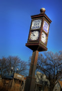 Chimes Photos - State Street Clock by Fred Lassmann