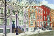 Park Scene Painting Originals - State Street by David Hinchen