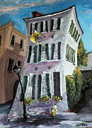 Charleston Houses Paintings - State Street Patiot by Jennifer Koach