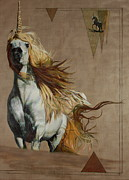 Unicorn Paintings - Stately by Nan  Thibert