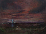 11 Wtc Painting Metal Prints - Staten Island - September Metal Print by Sarah Yuster