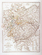 Old Map Digital Art Framed Prints - States Of The German Confederation Framed Print by Fototeca Storica Nazionale