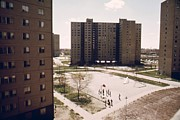 Social Issues Prints - Stateway Gardens Public Housing Complex Print by Everett