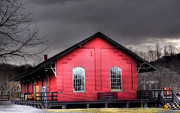 Red Roof Prints - Station House Print by Todd Hostetter