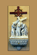 Statue Portrait Digital Art Prints - Station of the Cross 02 Print by Thomas Woolworth