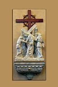Statue Portrait Digital Art Prints - Station of the Cross 05 Print by Thomas Woolworth