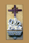 Statue Portrait Digital Art Prints - Station of the Cross 09 Print by Thomas Woolworth