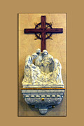 Statue Portrait Digital Art Prints - Station of the Cross 14 Print by Thomas Woolworth