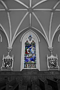 Stained Glass Windows Framed Prints - Stations of the Cross Framed Print by Susan Candelario