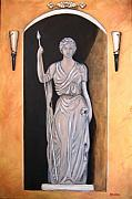 Italian Art Metal Prints - Statua Romana Metal Print by ITALIAN ART- Angelica