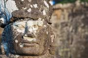 Rocky Statue Prints - Statue at Angkor Thom Print by Bill Brennan - Printscapes