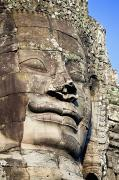 Rocky Statue Prints - Statue at Angkor Thom II Print by Bill Brennan - Printscapes