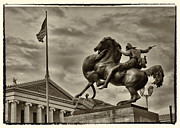 Philadelphia Photo Prints - Statue by Philadelphia Art Museum Print by Jack Paolini
