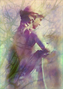Statue In The Garden Print by Judi Bagwell