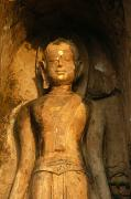 Statue Of A Goddess At Wat Pa Sat Print by Anne Keiser