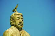 Y120817 Prints - Statue Of Chinese Ancient Official Print by Pan Hong