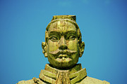 Statue Of Chinese Warrior Print by Pan Hong