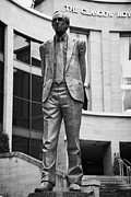 Glasgow City Centre Scotland Prints - Statue Of Donald Dewar Scotlands First Ever First Minister Glasgow Scotland Uk Print by Joe Fox