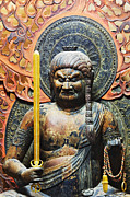 The Buddha Metal Prints - Statue of Fudo Myo-o Metal Print by Jeremy Woodhouse