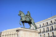 Residential Prints - Statue of King Charles III in Madrid Print by Artur Bogacki