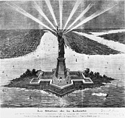 Enlightening Posters - Statue Of Liberty, 1875 Poster by Granger
