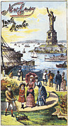 Trade Card Framed Prints - Statue Of Liberty: Ad Framed Print by Granger
