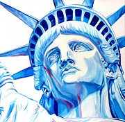 Liberty Paintings - Statue Of Liberty by Andre Bongard