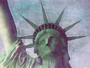 Statue Posters - Statue of Liberty Poster by Angela Doelling AD DESIGN Photo and PhotoArt