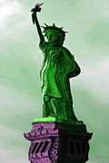 Caricature Photo Posters - Statue of Liberty Caricature Poster by Sophie Vigneault