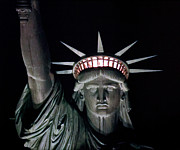 Libertas Posters - Statue of Liberty Poster by David Pringle