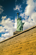 Painted Image Posters - Statue Of Liberty Poster by Juan  Silva