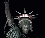 Libertas Digital Art - Statue of Liberty Poster by David Pringle