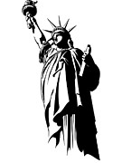 Liberty Island Digital Art - Statue Of Liberty by Stock Foundry