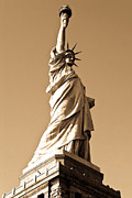 The New Deal Framed Prints - Statue of Liberty Framed Print by Syed Aqueel