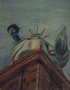 Liberty Paintings - Statue of Liberty by Wendy Hope
