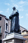 Statue Portrait Photos - Statue Of Paolo Sarpi, Venetian Scientist by Sheila Terry