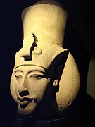 Pharaoh Posters - Statue Of Pharaoh Akhenaten, Also Known Poster by Richard Nowitz