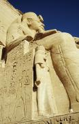 Great Architect Framed Prints - Statue Of Ramses Ii And Wife At Great Framed Print by Axiom Photographic