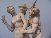 Greek Sculpture Prints - Statue Of Venus, Eros And Pan Print by Richard Nowitz