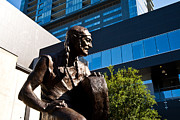 Country Music Photos - Statue Of Willie Nelson - Side View by Mark Weaver