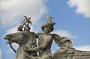 Ile De France Prints - Statue . Place de la Concorde. Paris. France Print by Bernard Jaubert