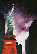 Liberty Paintings - Statue still stands by T Fischler