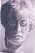 Greek Sculpture Painting Prints - Statue young boy Print by Deena Greenberg