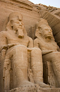 Scenic - Monuments Framed Prints - Statues at Abu Simbel Framed Print by Darcy Michaelchuk